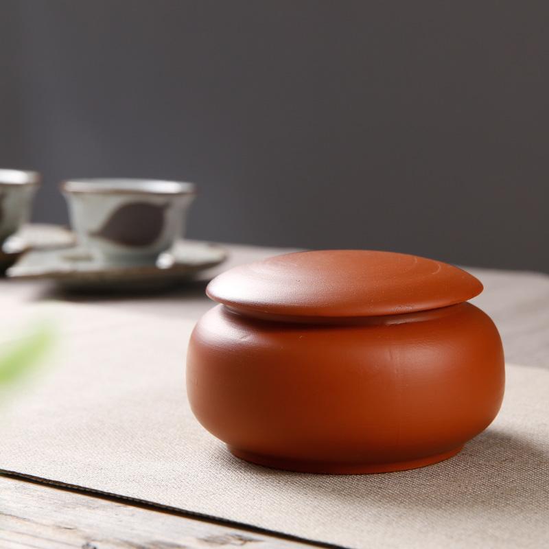 紫砂迷你高档茶叶罐配件 密封小号铁观音普洱茶缸便携储茶罐特价